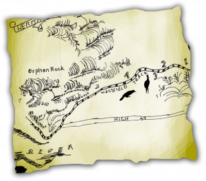 A fragment of the Map (part of the Journey guide)