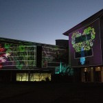 Projection onto the Joan during the No Boundaries Project