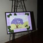 """Jill Huber's Tactile artwork """"Jacaranda"""""""