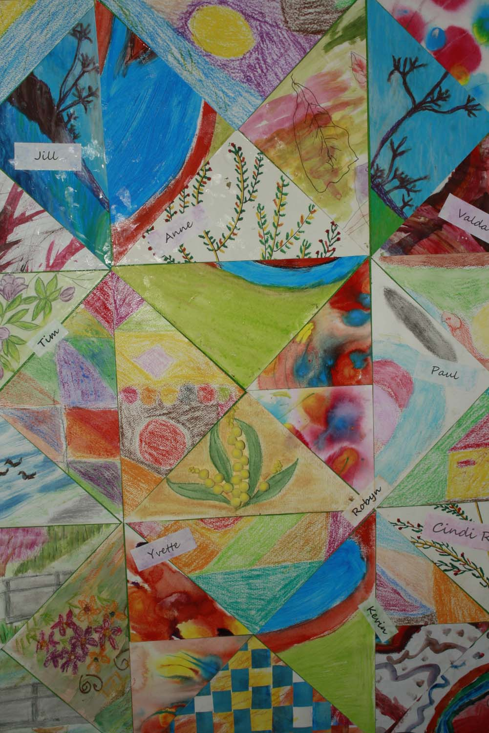 A friendship visual patchwork, by the No Boundaries visual art group