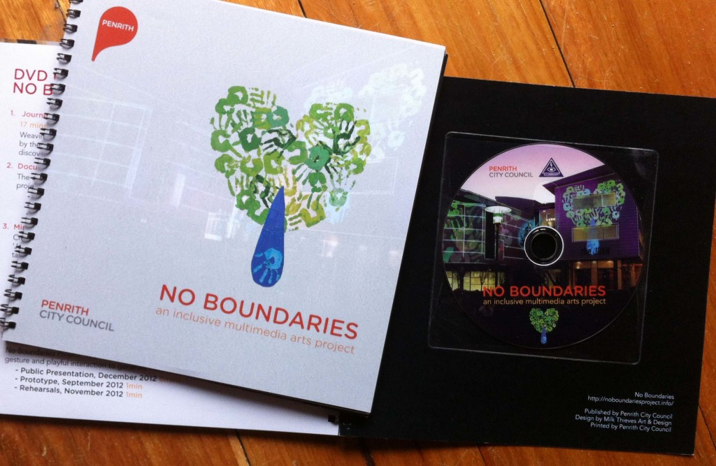 Booklet and DVD from the No Boundaries Project.