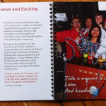 One of the sections from the No Boundaries Booklet, showing a support team photograph and text.